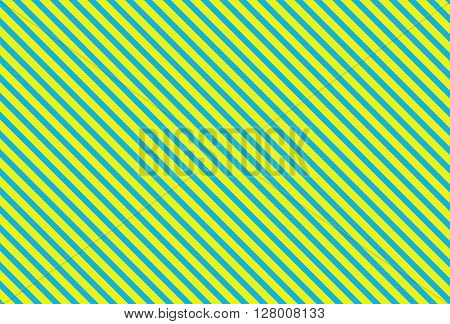 Diagonally striped background stripes turquoise and yellow