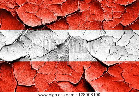 Grunge Austrian flag with some cracks and vintage look