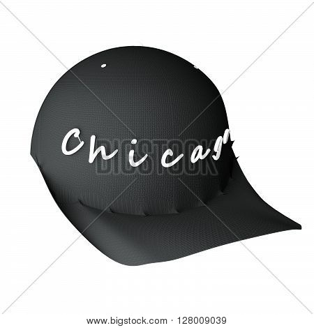 Baseball Hat With Word Chicago