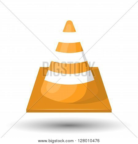 Construction cone and traffic cone colorful icon