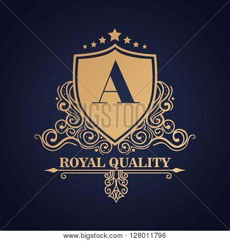 emblem royal quality design, vector illustration eps10 graphic