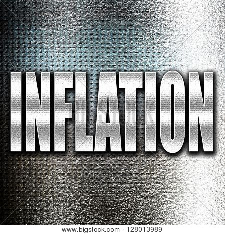 Inflation sign background