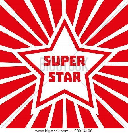 Super star. Star banner background. Star Shape. Success Victory Winning Vector Concept. Leader boss Concept. Sport star. Vector illustration