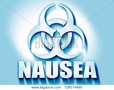 Nausea concept background