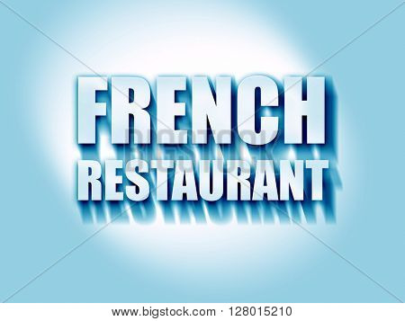 Delicious french cuisine