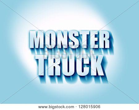 monster truck sign background
