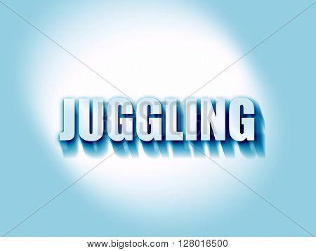 juggling sign background