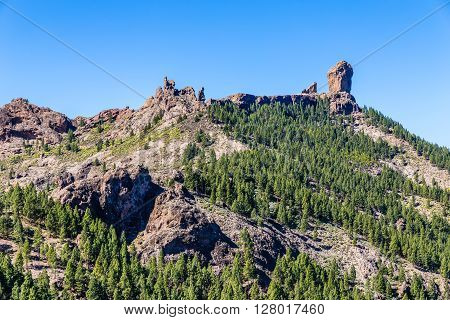 Beautiful View Of Roque Nublo - Gran Canaria Canary Islands Spain