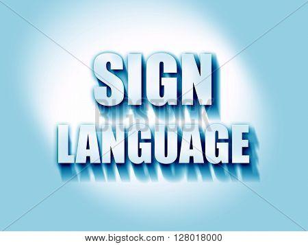 sign language background