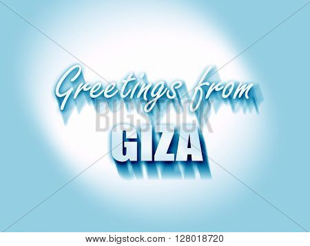Greetings from giza