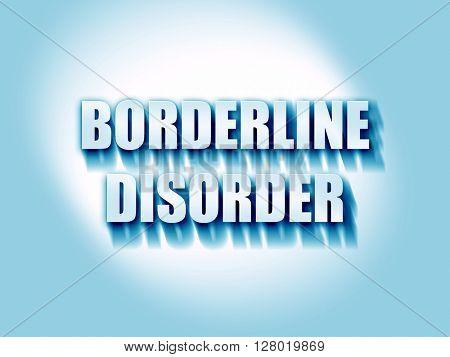 Borderline sign background