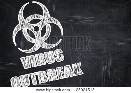 Chalkboard writing: virus concept background