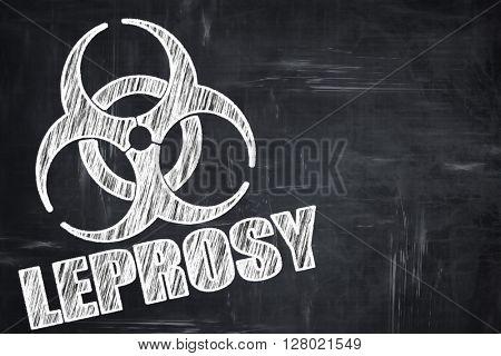 Chalkboard writing: Leprosy concept background