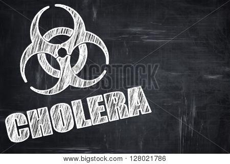 Chalkboard writing: Cholera concept background