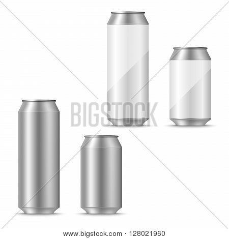 Can of beer blank template vector eps 10