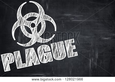 Chalkboard writing: Plague concept background