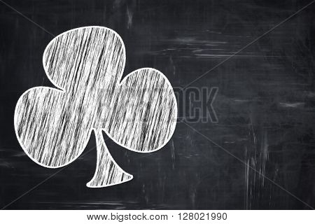 Chalkboard writing: Clubs card background