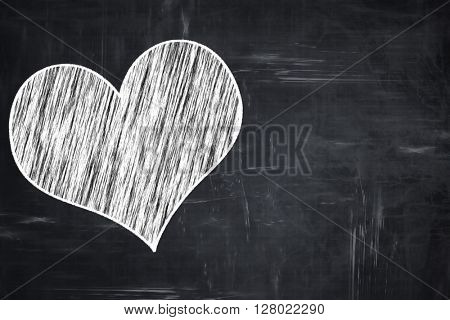Chalkboard writing: Hearts card background