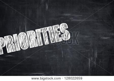 Chalkboard writing: priorities