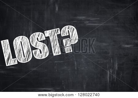 Chalkboard writing: lost