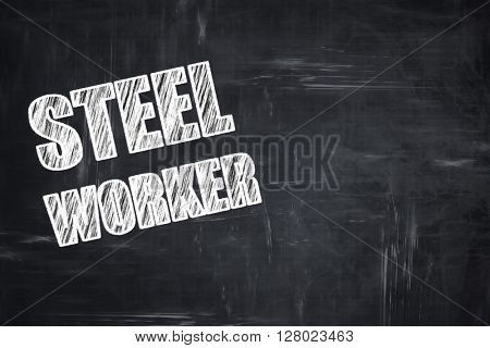 Chalkboard writing: Steel background with smooth lines