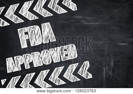 Chalkboard writing: FDA approved background
