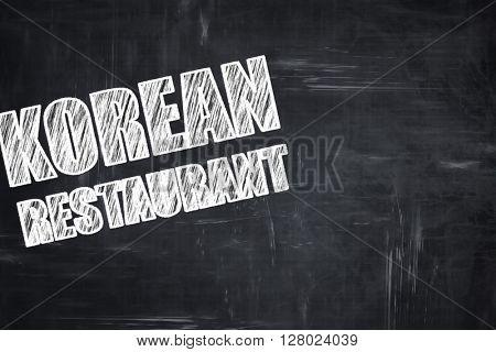 Chalkboard writing: Delicious korean cuisine