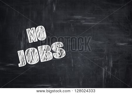 Chalkboard writing: Crisis sign background
