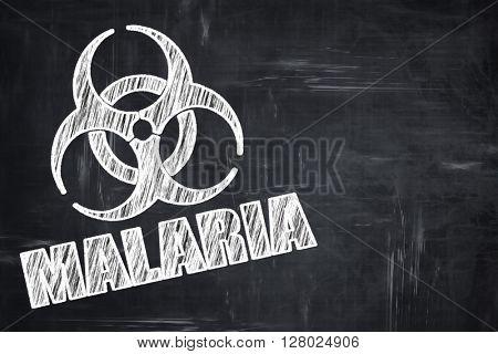 Chalkboard writing: malaria concept background