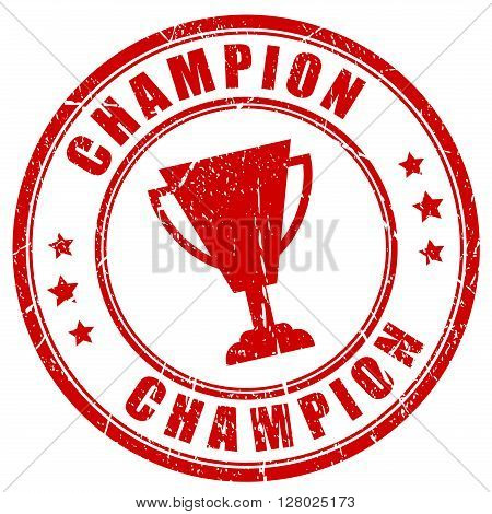 Champion rubber stamp isolated on white background