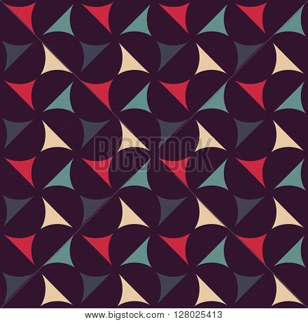 Vector modern seamless colorful geometry pattern color abstract geometric background pillow multicolored print retro texture hipster fashion design