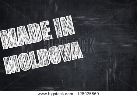 Chalkboard background with chalk letters: Made in moldova