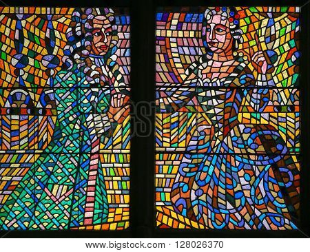 Stained Glass - Baroque Couple