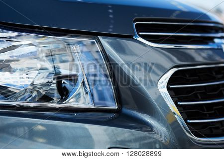 Xenon or LED head light of a modern car