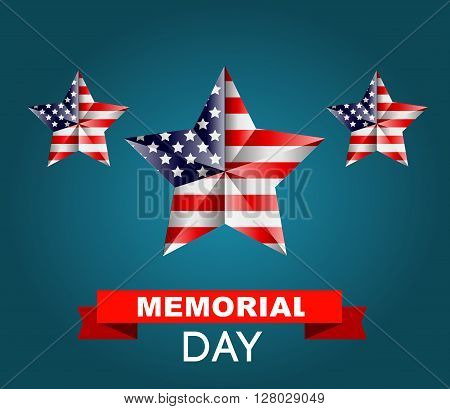 Memorial day poster. Illustration Patriotic United States of America for Memorial day, USA, Memorial day vector illustration