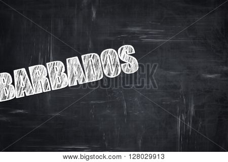 Chalkboard background with chalk letters: Greetings from barbado