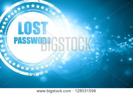 Blue stamp on a glittering background: lost password