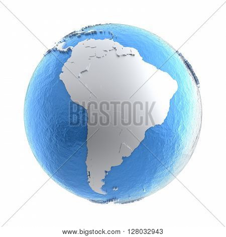 South America On Silver Earth