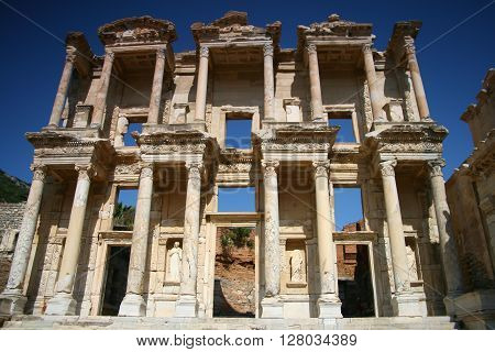 Library Of Celsus at Ephesus  in Turkey