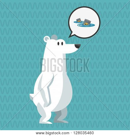 Global warming concept with icon design, vector illustration 10 eps graphic.