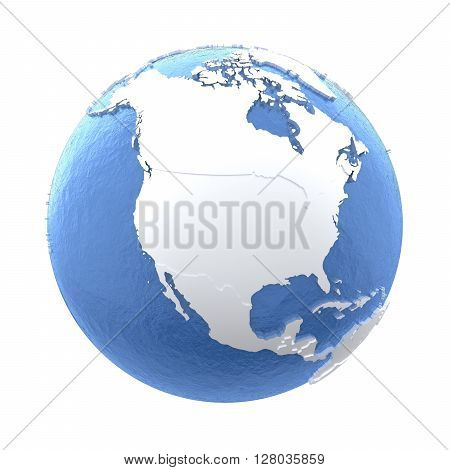 North America On Silver Earth