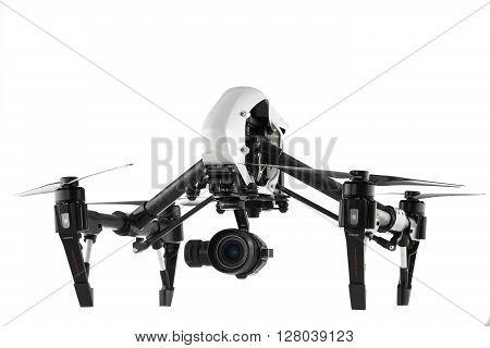 Varna, Bulgaria - April 22 ,2016: Image Of Dji Inspire 1 Pro Drone Uav Quadcopter Which Shoots 4K Vi
