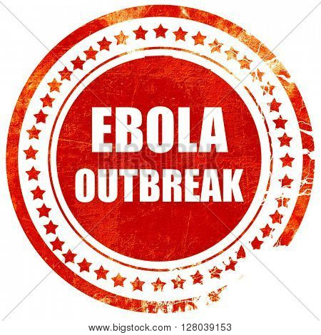 Ebola outbreak concept background, grunge red rubber stamp