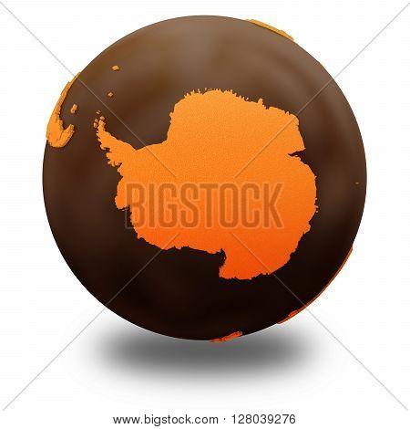Antarctica On Chocolate Earth