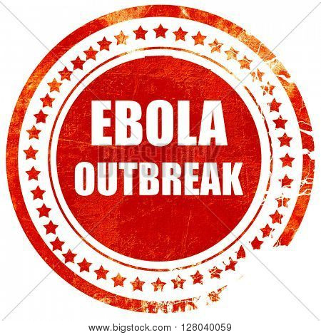Ebola outbreak concept background, grunge red rubber stamp on a