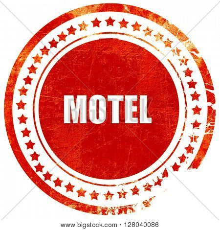 Vacancy sign for motel, grunge red rubber stamp on a solid white