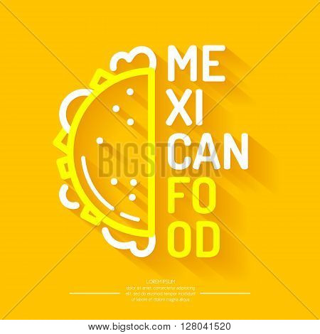 The logo of Mexican food. Mexican food the sign for the restaurant. Vector illustration.