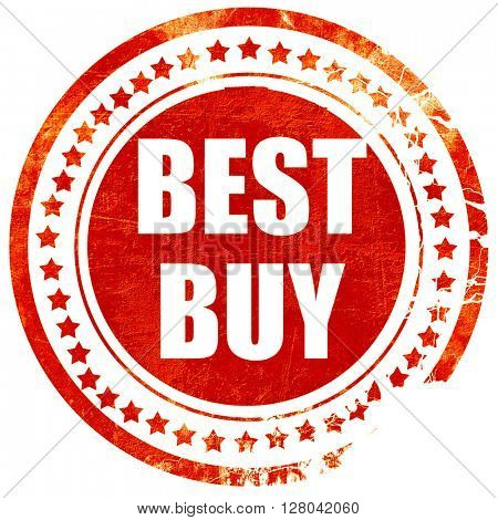 best buy sign, grunge red rubber stamp on a solid white backgrou