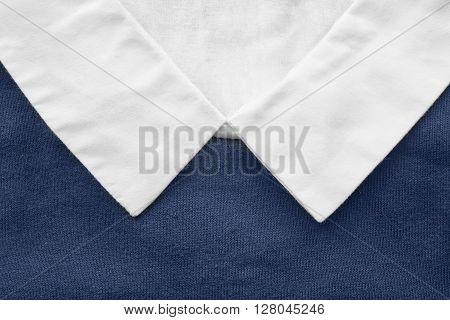 White shirt collar closeup as a background