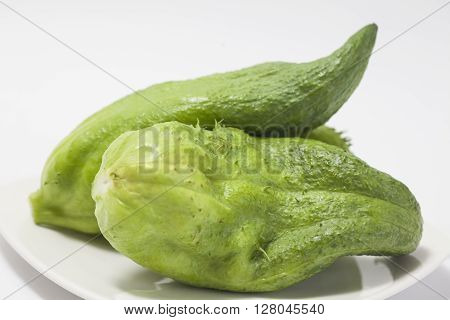 Stuffing cucumbers preparation : Stuffing cucumber (Cyclanthera pedata)